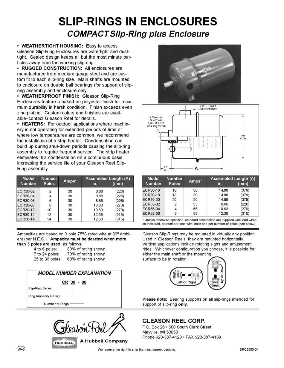 GleasonDirect.com: Cable Management: Engineered Products: Slip Rings