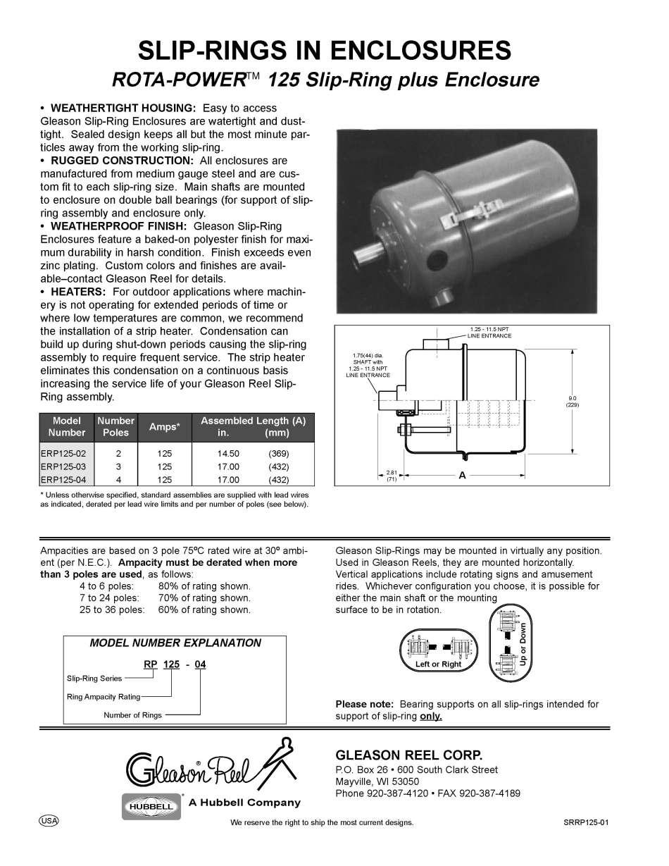 GleasonDirect.com: Cable Management: Engineered Products: Slip Rings