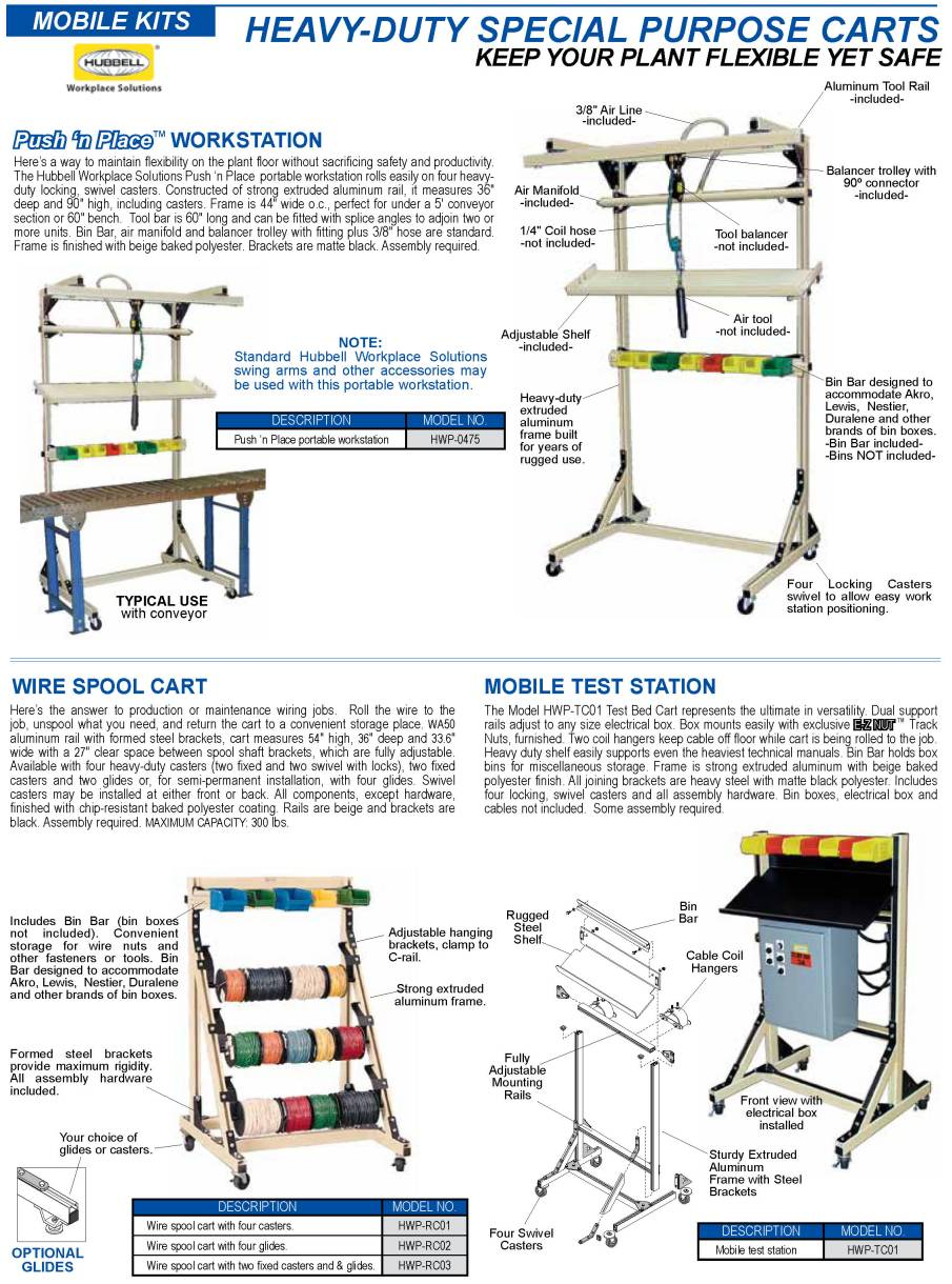 GleasonDirect.com: Hubbell Workplace Solutions: Mobile Carts